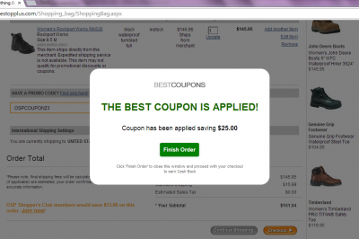 Coupons autoapply finish