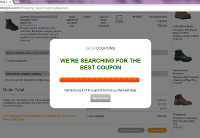 Coupons autoapply progress